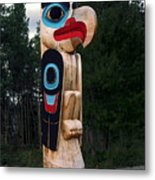 Eagle Clan Totem Pole Metal Print