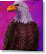 Eagle Crimson Skies Metal Print