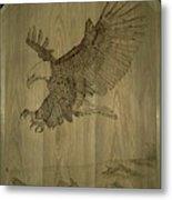Eagle Door Panel Metal Print