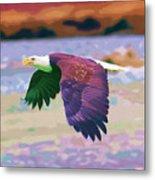 Eagle In Air Metal Print
