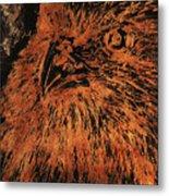 Eagle Metallic Copper Metal Print