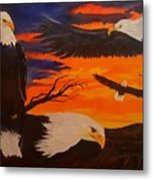 Eagles Are Back                 76 Metal Print