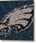 Eagles Bottle Cap Mosaic Metal Print