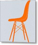 Eames Fiberglass Chair Orange Metal Print