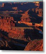 Early Morning Light Hits Dead Horse Point State Park Metal Print