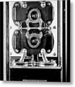 Early 1900s Type Cs Watthour Meter In Black And White Metal Print