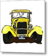 Early 1930s Ford Yellow Metal Print