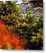 Early Autumn Along The Naugatuck Metal Print