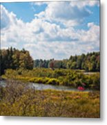 Early Autumn At The Tobie Trail Bridge Metal Print
