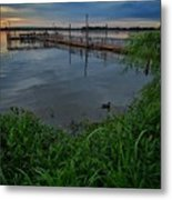 Early Day At The Dock Metal Print