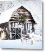Early December Snowfall Morning Metal Print