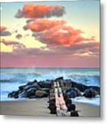 Early Evening At The Beach Metal Print