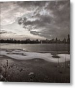 Early Evening Central Park In Winter Metal Print