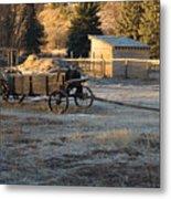 Early Farm Wagon Metal Print