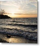 Early Lakeside - Waves Sand And Sunshine Metal Print