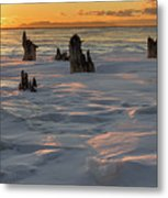 Early March Sleeping Giant Sunrize Metal Print