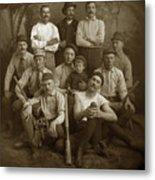 Early Monterey Baseball Team Circa 1895 Metal Print