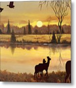 Early Morning Alert1 Metal Print