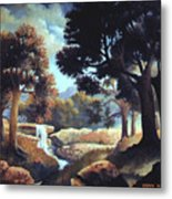 Early Morning At Hidden Rock Metal Print