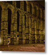 Early Morning At The Aqueduct Of Segovia Metal Print