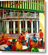 Early Morning At The Cafe Du Monde Metal Print