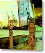 Early Morning At The Harbour Metal Print