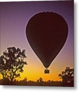 Early Morning Balloon Ride Metal Print