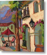 Early Morning Coffee At Old Town La Quinta Metal Print