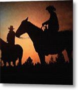 Early Morning Cowboys Metal Print