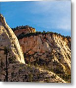 Early Morning In Zion Canyon Metal Print