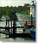 Early Morning Net Toss Metal Print