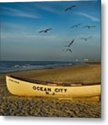 Early Morning Ocean City Nj Metal Print