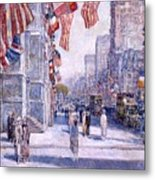 Early Morning On The Avenue In May 1917 - 1917 Metal Print