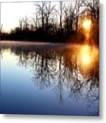 Early Morning On The Canal Metal Print