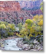 Early Morning On The Virgin River Metal Print