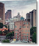 Early Morning Panorama Of Downtown San Antonio Skyline And Architecture - Bexar County Texas Metal Print