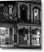 Early Morning Paseo Del Prado Havana Cuba Bw Metal Print