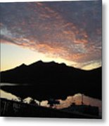 Early Morning Red Sky Metal Print