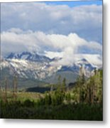 Early Morning Sawtooths Metal Print