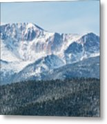 Early Morning Snow On Pikes Peak Metal Print