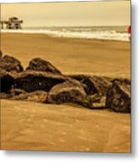 Early Morning Tybee Beach Metal Print