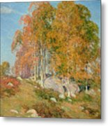 Early October Metal Print by Willard Leroy Metcalf