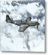 Early P-51 Mustang Fighter  Metal Print by Randy Steele