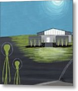 Early Painting Father And Son Aliens Metal Print