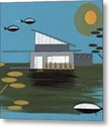 Early Painting Futuristic House Metal Print