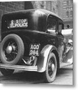 Early Police Car Metal Print by Topical Press Agency