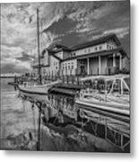 Early Sailing - Black And White Metal Print