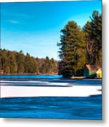 Early Winter On Old Forge Pond Metal Print