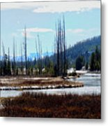 Early Winter On The Yellowstone Metal Print