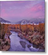 Early Winter Sunset Metal Print